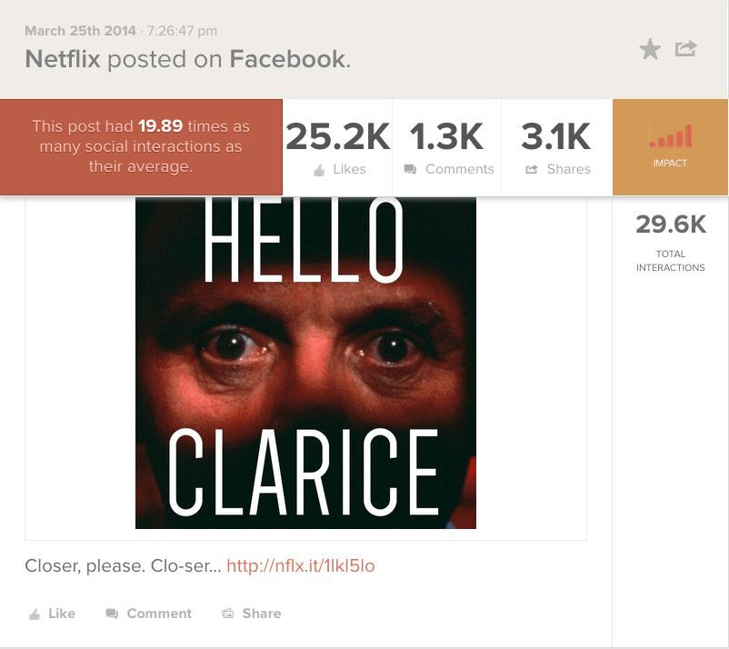 Netflix Hello Clarice FB Post