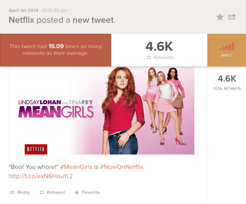 Netflix Mean Girls Tweet
