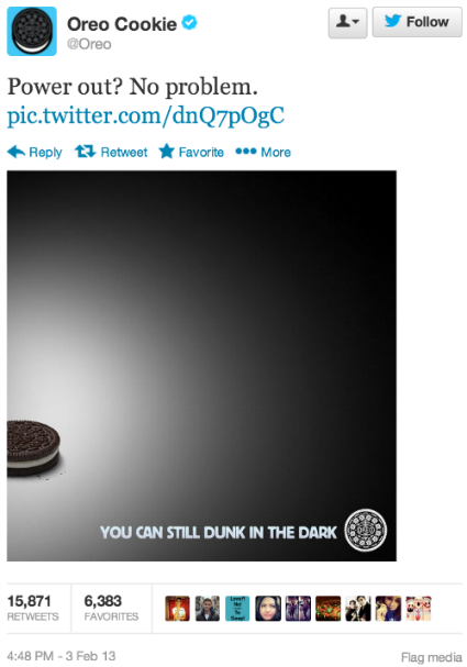 History of content marketing: Oreo tweet