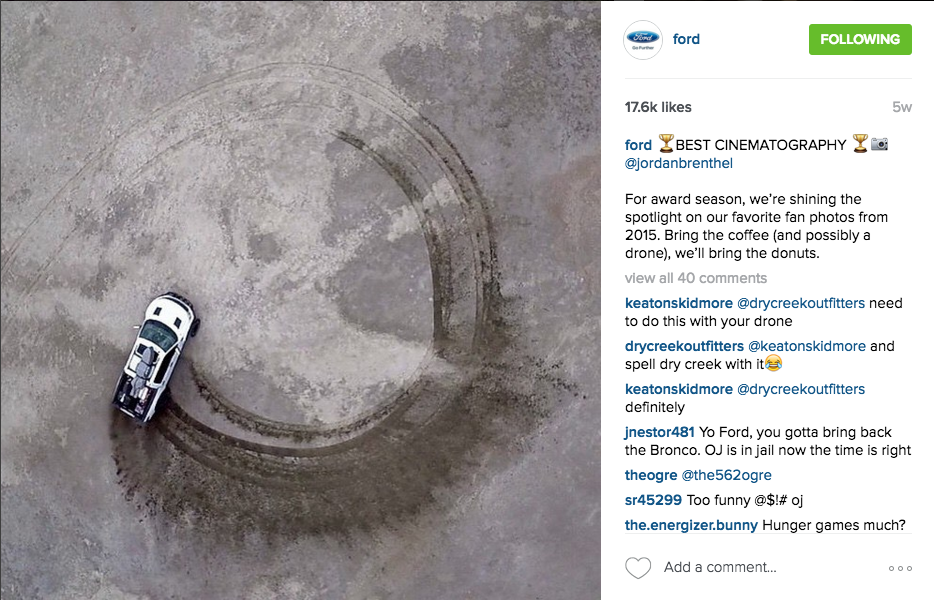 Instagram best practices: Ford 2