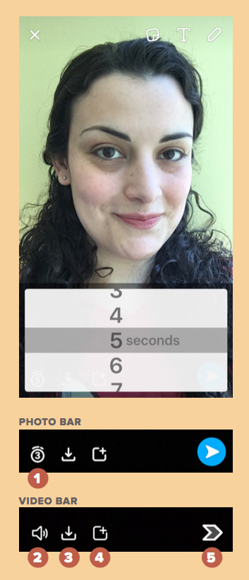 How to use Snapchat: Changing the length of a snap