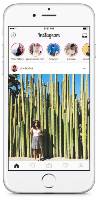 Instagram Stories in your news feed.