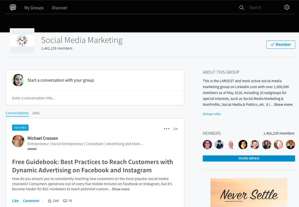 group guide to linkedin for marketers
