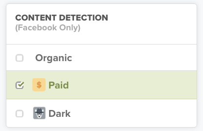 promoted posts on facebook detection TrackMaven