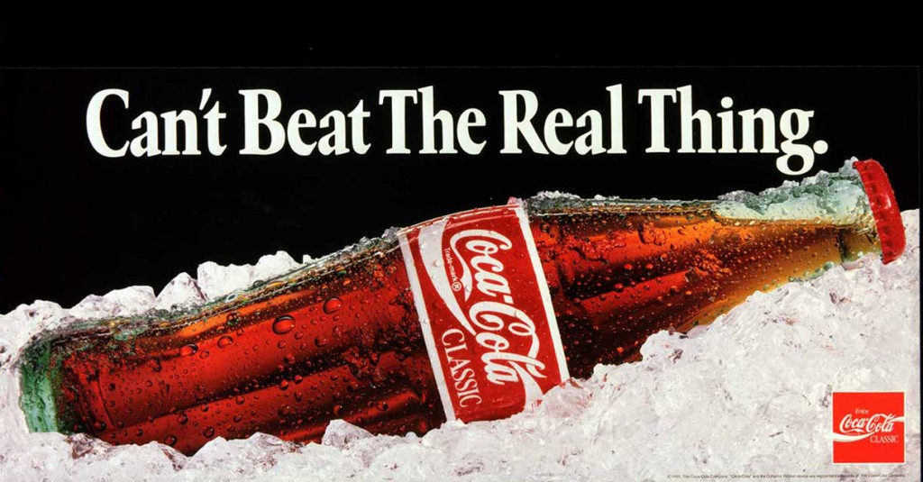 Coca-Cola Classic ad from 1991.